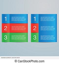 colorido, información, bandera, elementos
