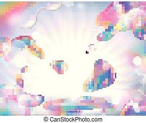 colorido, jabón burbujea, plano de fondo