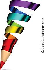 colorido, lápiz