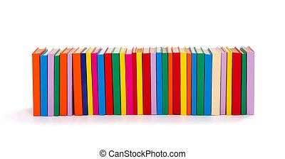 colorido, libros, consecutivo