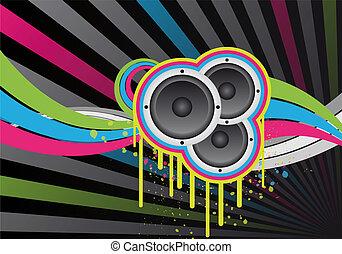 colorido, música, diseño