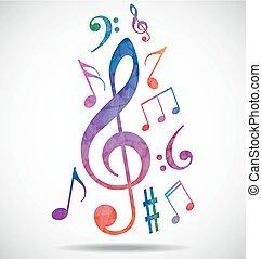 colorido, música, plano de fondo