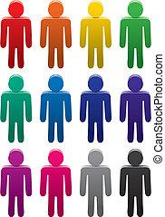 colorido, macho, símbolos