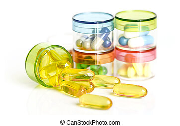 colorido, medicina, fondo.