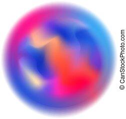 colorido, movimiento velado, esfera, resumen, blanco, forma