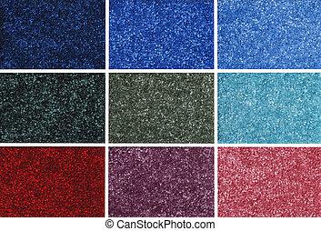 colorido, muestras, alfombra