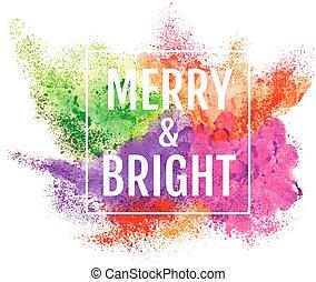 colorido, navidad, plano de fondo