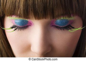 colorido, olhos
