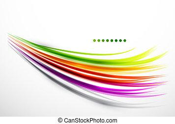 colorido, ondulado, líneas