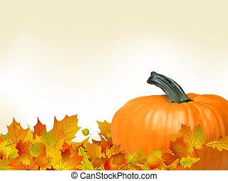 colorido, otoño, tarjeta, template., eps, 8