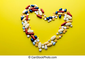colorido, píldoras, drogas, y, tabletas