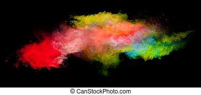 colorido, pó