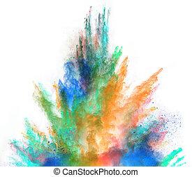 colorido, pó, powder.