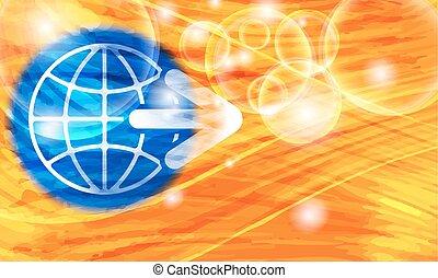 colorido, padrão, globo, transparente, fundo, abstratos
