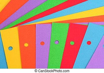 colorido, papel