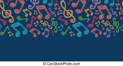 colorido, patrón, notas, seamless, plano de fondo, musical