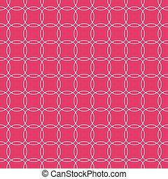colorido, pattern., ilustración, vector, círculo, repeatable, arte
