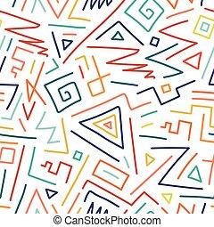 colorido, pattern., seamless, mano, dibujado, niños