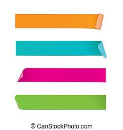 colorido, pegatinas, (vector)