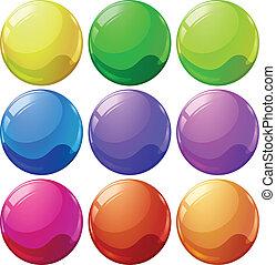 colorido, pelotas