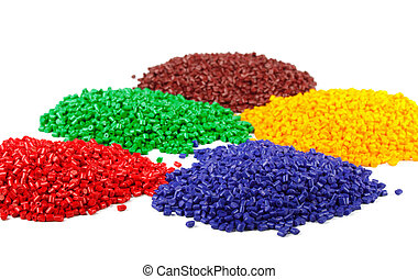 colorido, plástico, grânulos