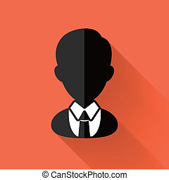 colorido, plano, diseño, hombre de negocios, icono