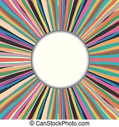 colorido, quadro, feito à mão, redondo, fundo, sobre, tapete