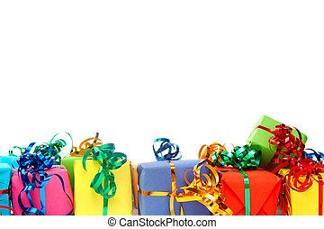 colorido, regalos