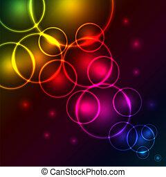 colorido, resumen, burbujas