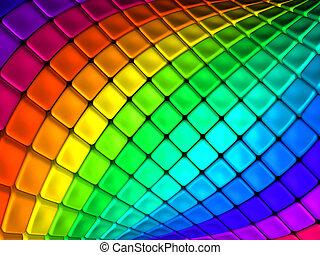 colorido, resumen, cubo, backgroun