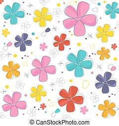 colorido, resumen, flores, plano de fondo, vector