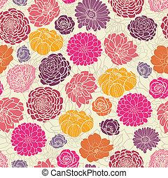 colorido, resumen, flores, seamless, patrón, plano de fondo