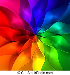 colorido, resumen, pétalo, ilustración, plano de fondo