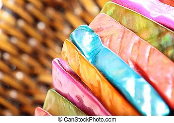 colorido, resumen, plano de fondo, piedras, pulsera