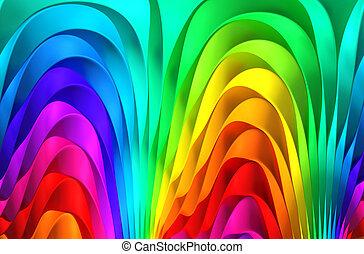 colorido, resumen, raya, plano de fondo, 3d, ilustración