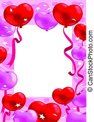 colorido, romántico, tarjeta de felicitación