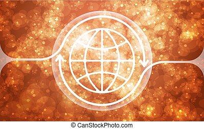 colorido, símbolo, abstratos, transparente, fundo, globo, futurista