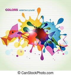 colorido, salpicaduras