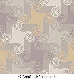 colorido, seamless, patrón, con, espiral, elementos