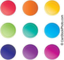 colorido, sellos