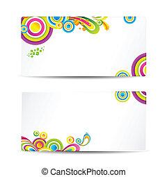 colorido, tarjeta, visitar