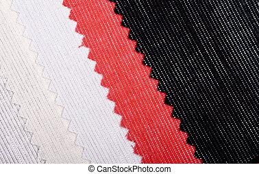 colorido, textiles