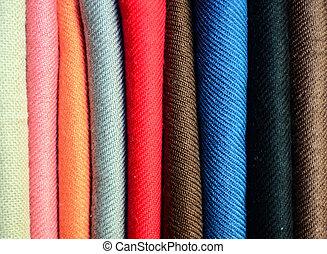 colorido, textiles, plano de fondo