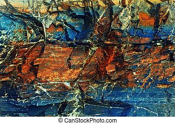 colorido, textura pedra, com, rachas