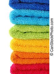 colorido, toallas