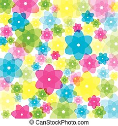colorido, transparente, flores