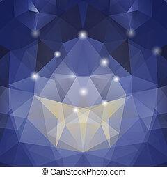 colorido, triángulo, mosaico, Plano de fondo