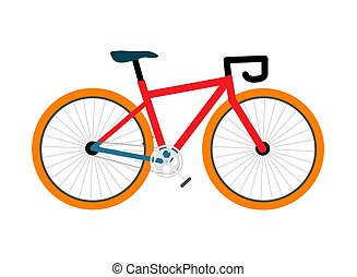 colorido, vector, bicicleta, ilustración, pedal-driven