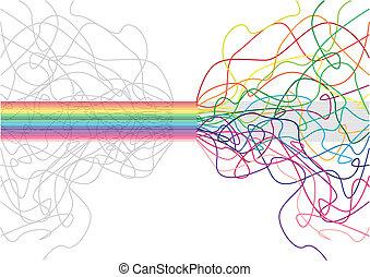 colorido, vector, -, raya, plano de fondo