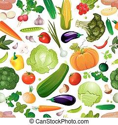 colorido, vegetales, seamless, textura, diseño, fresco, su